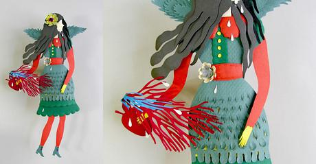 立體誇張的紙模作品 融合了多種手工技藝