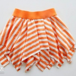 穿旧T恤手工DIY改造小女孩半身裙图解教程