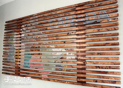 手工DIY制作装饰画 个性木条装饰画DIY
