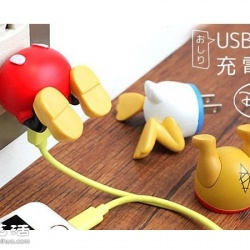 超可爱迪士尼小屁屁充电器转接头!