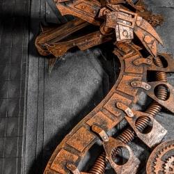 充满金属质感的蒸汽朋克创意纸模作品