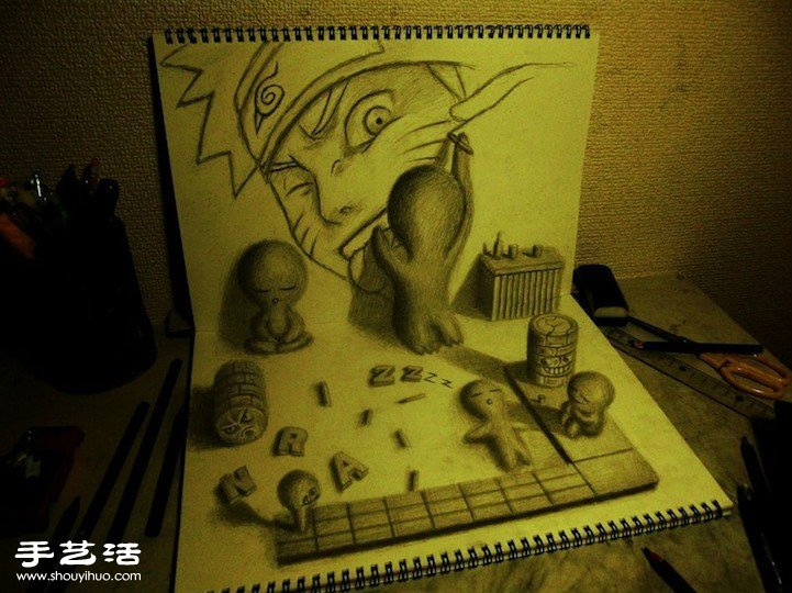 超逼真3D立体素描 跃然纸上令人叹为观止图片