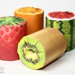 缤纷的水果卷筒卫生纸包装设计