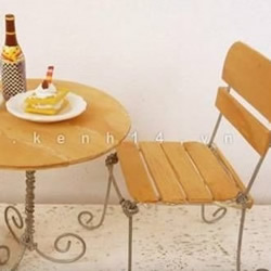 冰棒棍+铁丝 手工制作欧式桌椅小手工艺品