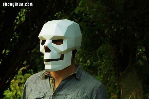 万圣节来啦 牛人用厚纸板制作超帅骷髅面具 -  www.shouyihuo.com