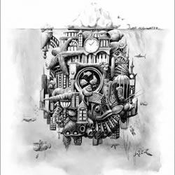 Faber-Castell 木铅笔制造商素描风广告