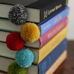 可爱毛线球书签DIY手工制作图解教程