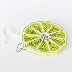 衍纸手工制作柠檬片耳坠 卷纸DIY柠檬耳环