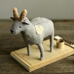一组可爱的国外布艺手工动物玩偶作品欣赏