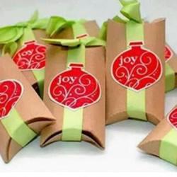 卷纸筒废物利用手工制作喜庆糖果礼物包