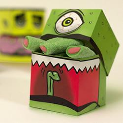 让人惊声尖叫的萌萌怪物糖果包装盒设计