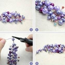 亮晶晶串珠项链手链手工DIY制作图解教程