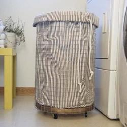 圆筒造型洗衣筐收纳筐DIY手工制作图解教