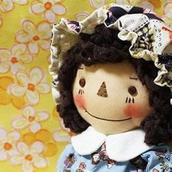 小女孩布艺洋娃娃玩偶人偶手工制作图解教程