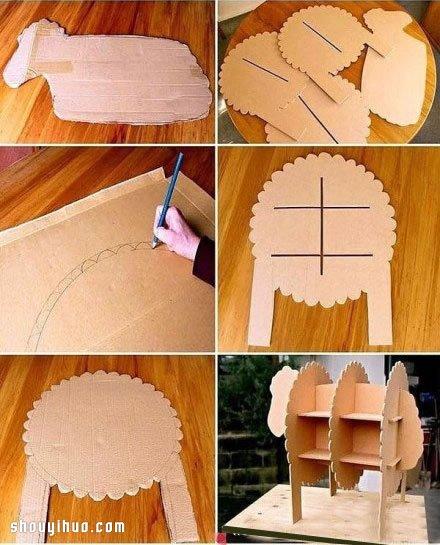 用纸箱制作的书架内容|用纸箱制作的书架版面设计
