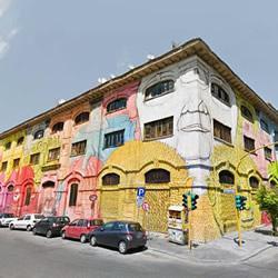 意大利街头艺术家BLU的罗马巨幅涂鸦壁画