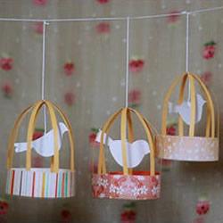 自制迷你鸟笼装饰挂件 鸟笼挂饰手工DIY制作