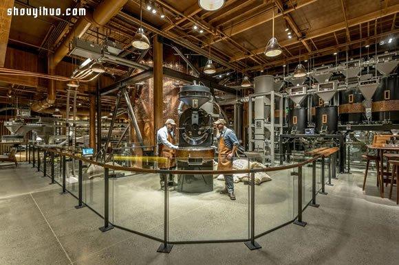 西雅图全球最大的星巴克超级旗舰店铺图片