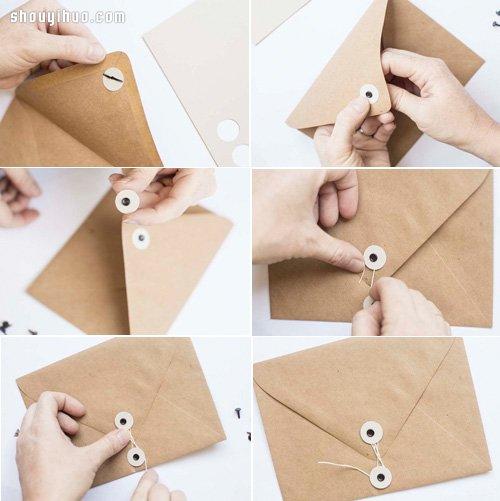 經典樣式公文信封摺紙手工製作圖解教學
