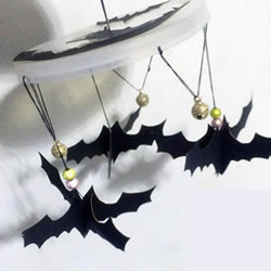 万圣节蝙蝠风铃玩具DIY手工制作图解教程