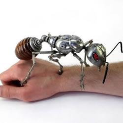 废弃五金DIY超炫蒸汽朋克风格动物雕塑