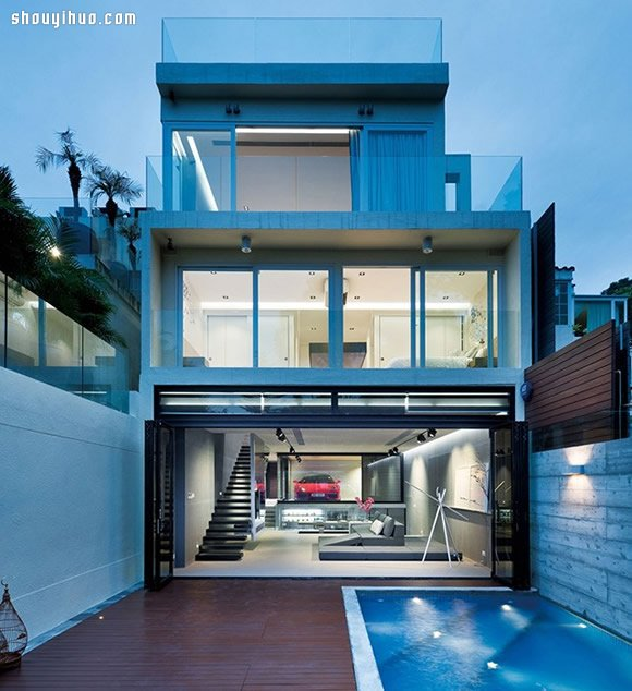 香港的奢华跑车别墅设计