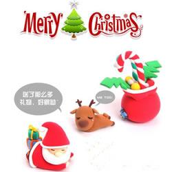 圣诞老人和驯鹿粘土玩偶手工制作图解教