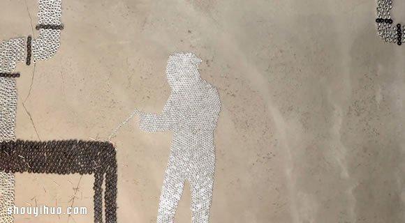 螺帽当做像素 拼凑DIY具体的图案 - www.shouyihuo.com