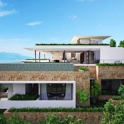 泰国苏梅岛上的无敌海景度假别墅装修设