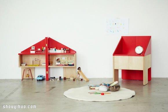 多功能娃娃屋儿童椅设计