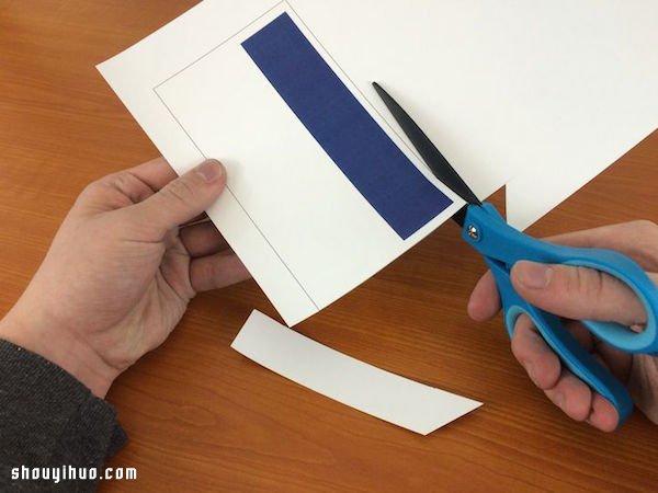 剪紙製作好玩的進度條生日賀卡/聖誕賀卡
