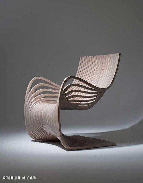 线条优美的极简椅子设计