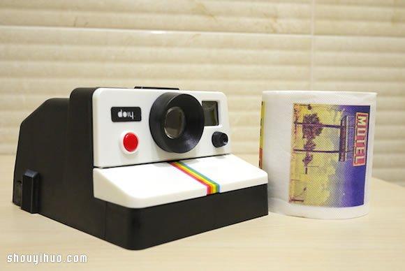 模仿拍立得的拉立得衛生紙架產品設計