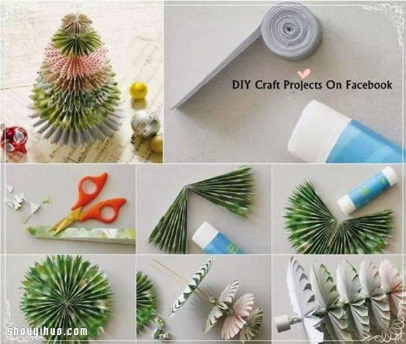 造型独特的圣诞树折纸手工制作diy图解教程