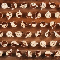 创意拿铁咖啡动画 用一千杯拿铁向她告白