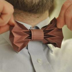 领结的折法 折纸diy手工制作领花图解教程