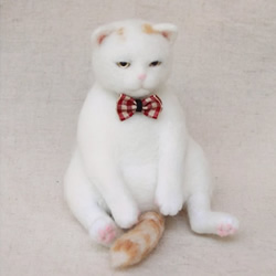 羊毛毡猫咪玩偶DIY 毛绒猫咪玩具手工制作