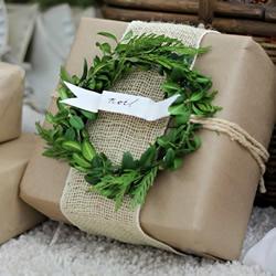 森系礼物包装DIY 漂亮花环包装装饰手工制