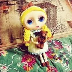 可爱西方小女孩洋娃娃玩偶软陶粘土手工制作