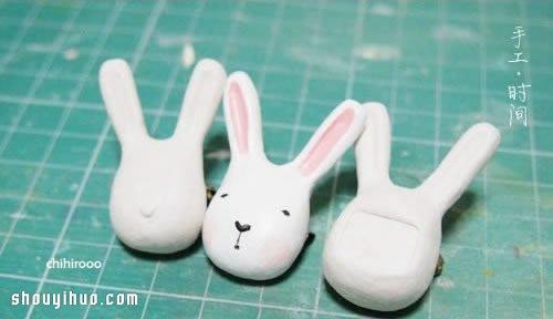粘土制作可爱长耳兔子玩偶小饰品图解教程