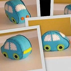 可爱布艺小汽车玩具DIY手工制作图解教程