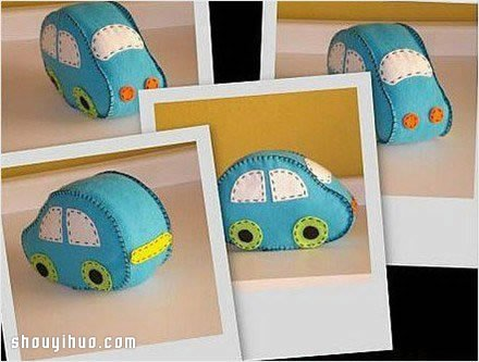 可爱布艺小汽车玩具DIY手工制作图解教程图片