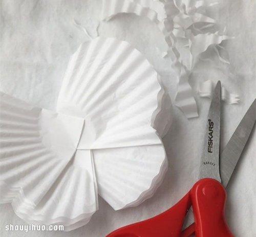 木夹子 蛋糕纸 变废为宝手工制作漂亮蝴蝶