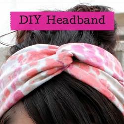 简单容易做的布艺发带DIY手工制作图解教程