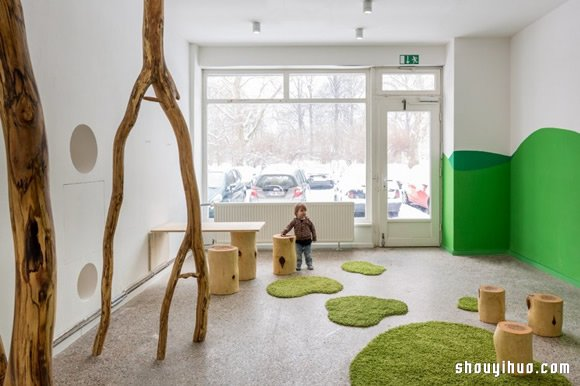 德国柏林森林系幼儿园装修布置设计