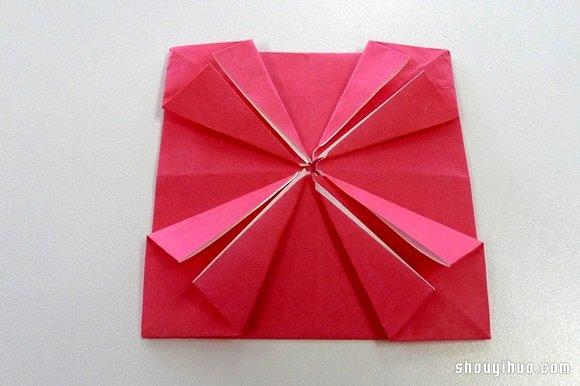 紙繡球的做法 摺紙繡球花手工製作圖解教學