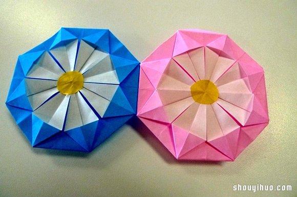 纸绣球的做法 折纸绣球花手工制作图解教程