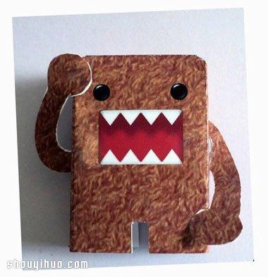 可爱怪兽纸模型的手工制作方法教程带图纸