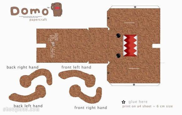 可愛怪獸紙模型的手工製作方法教學帶圖紙