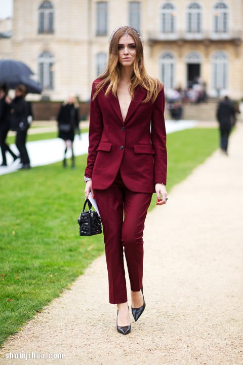 巴黎春夏高訂時裝周穿搭達人時尚街拍